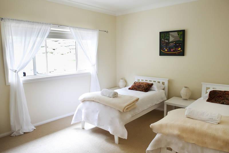 Twin share room at Yanada Retreat Centre, St Albans