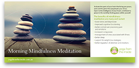 Download our 'Morning Mindfulness Meditation' brochure