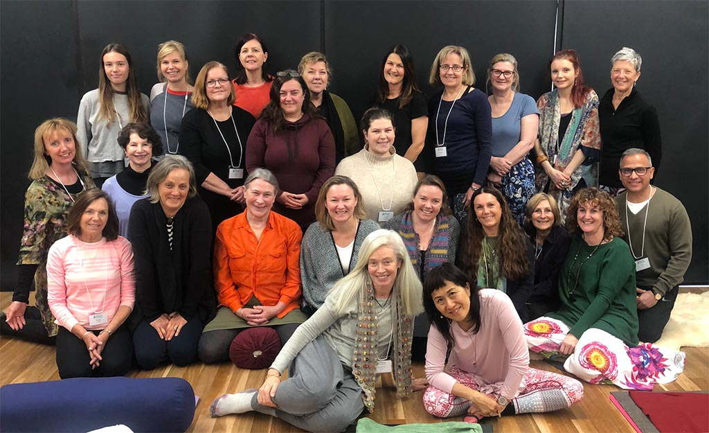 Group photo at the iRest Yoga Nidra Immersion, August 2019