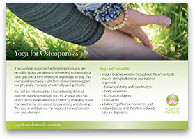 Download our 'Yoga for Osteoporosis' brochure