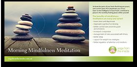 Download our 'Morning Mindfulness Meditation' brochure
